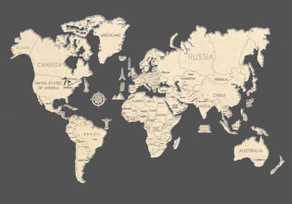 World Map M – WOODEN.CITY