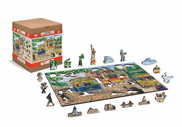 drewniana układanka, drewniane puzzle dla dorosłych, puzzle 1000